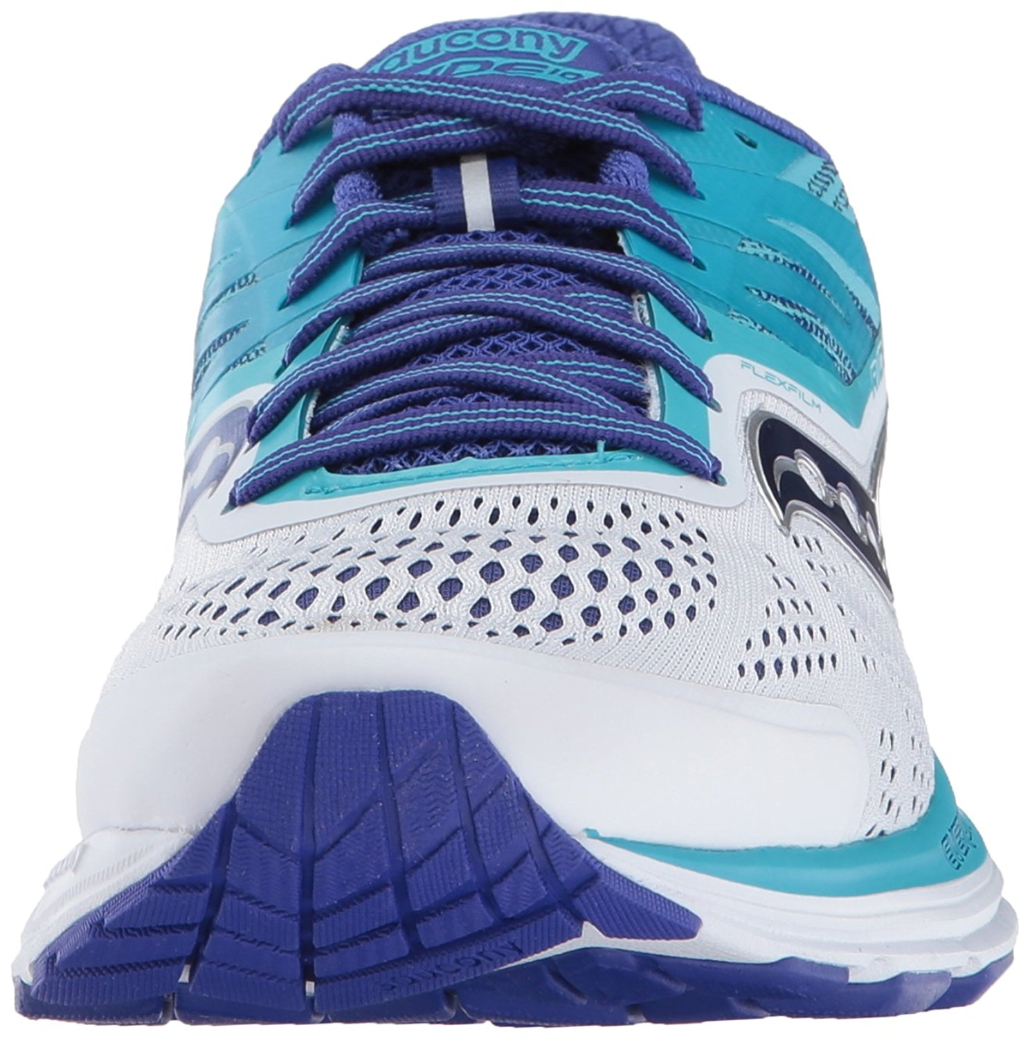 White Blue 7 B US Saucony Women/'s Ride 10 Running Shoe