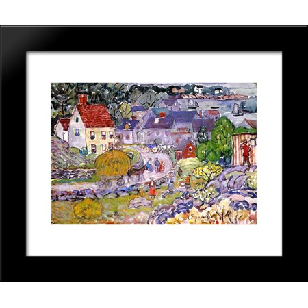 The Hay Cart 20x24 Framed Art Print by Prendergast, Maurice