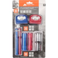 6-Pack Ozark Trail LED Flashlight and Penlight and Headlamp Combo