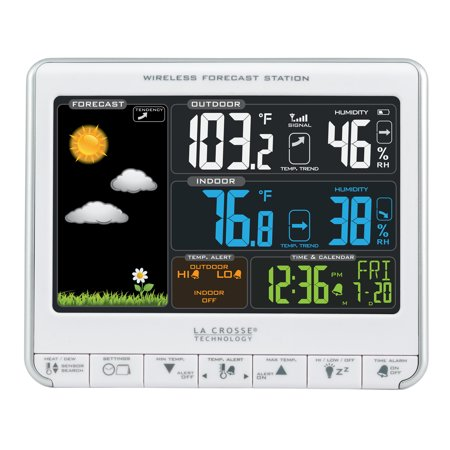 Lcd Wireless Weather Station - La Crosse Technology 308-1412S Color LCD Wireless Weather Station