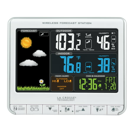 La Crosse Technology 308-1412S Color LCD Wireless Weather Station