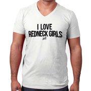 Love Redneck Girl Funny Shirt Country Hick Cowboy Luke Bryan V-Neck T-Shirt