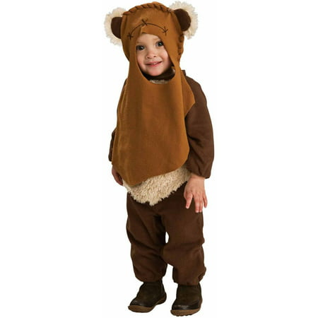 Star Wars Ewok Toddler Halloween Costume, Size 2-4 for Ages 1-2 - Star Wars Costume Hoodie