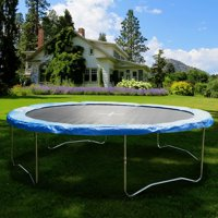 Gymax Blue Safety Pad Spring Round Frame Pad Cover Replacement for 12FT 14FT 15FT Trampoline