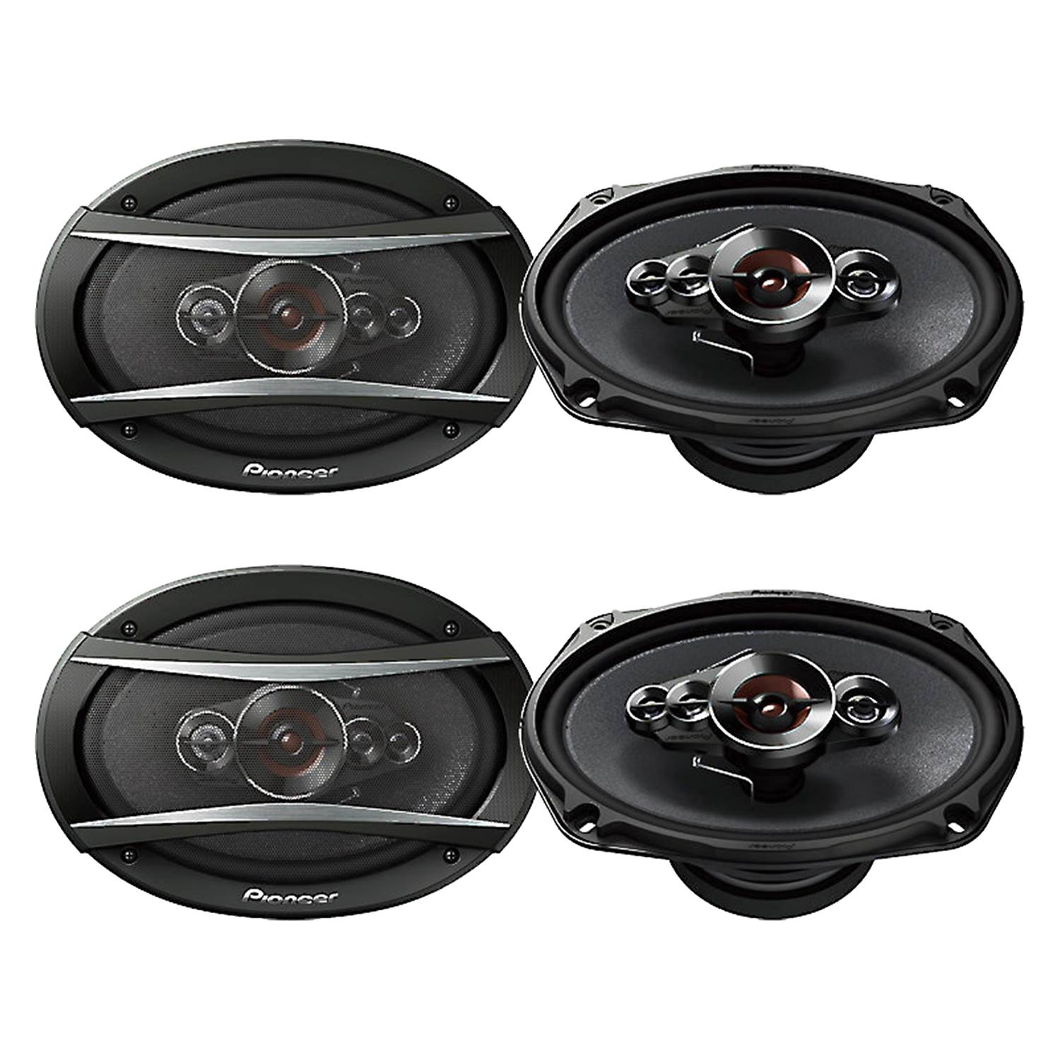 Pioneer 6x9 U0026quot  5-way 650w Coaxial Car Audio Stereo Speakers  2 Pair