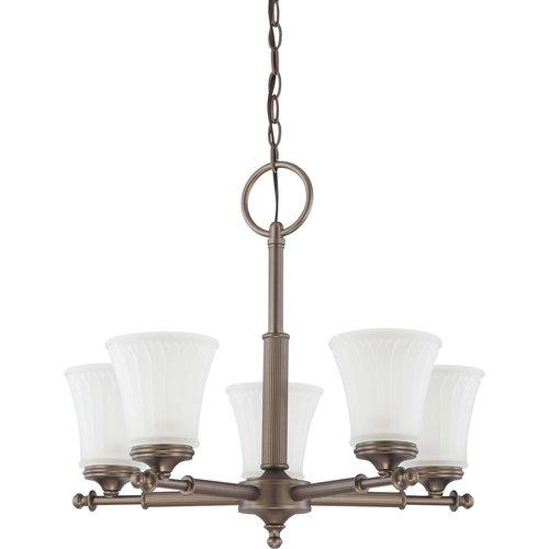 Nuvo Lighting  60/4015  Chandeliers  Teller  Indoor Lighting  ;Aged Pewter