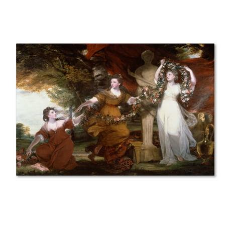 9c98eef6e872 Trademark Fine Art 'Three Ladies Adorning A Term Of Hymen' Canvas Art by  Sir Joshua Reynolds