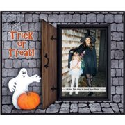 Trick or Treat Halloween Picture Frame Gift Affordable, Colorful and Fun Holds 3.5 x 5 Photo |Innovative Front-Loading Design | Crayola Theme