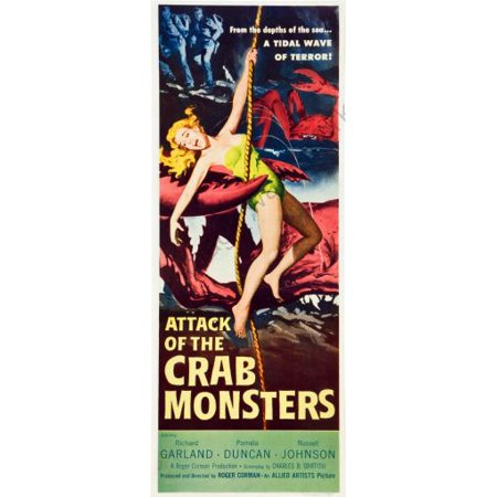 Attack Of The Crab Monsters Movie Poster Insert 14inx36in ...