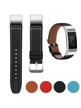 181ced85768d Product Image Adepoy Superior Genuine Leather Replacement Wrist Bands Metal  Connectors for Fitbit Charge 2 (Brown)