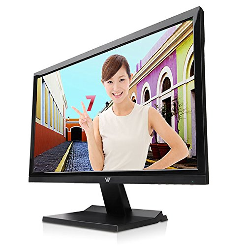 "V7 L21500wds-9n 21.5"" Led Lcd Monitor - 16:9 - 5 Ms - Adjustable Display Angle - 1920 X 1080 - 16.7 Million Colors - 200 Nit - 1,000,000:1 - Full Hd - Speakers - Dvi - Vga - Glossy (l21500wds-9n)"