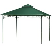 Gymax 2-Tier 10'x10' Gazebo Canopy Shelter Patio Wedding Party Tent Outdoor Awning