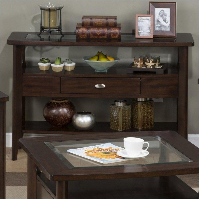 Jofran 827 Series Contemporary Sofa Table in Montego Merlot by Jofran
