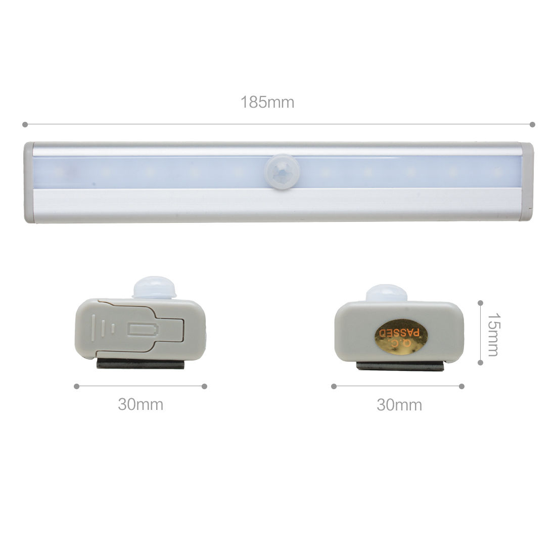 Lighting Basement Washroom Stairs: PIR Motion Sensor Light Battery Power 10 LED Closet Stairs