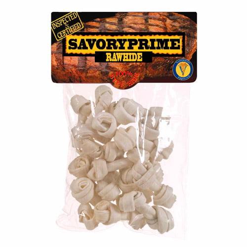 Savory Prime Mini Rawhide Bones, 20-Pack