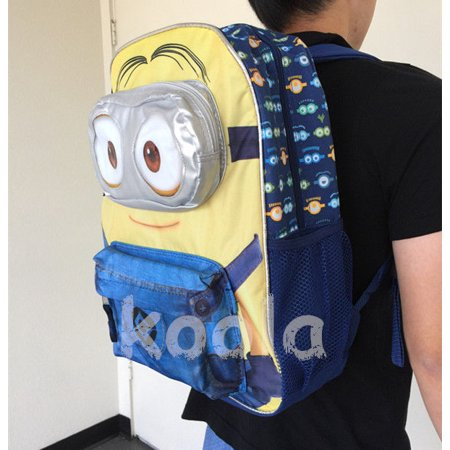 Despicable Me Minions Blue School Backpack Minion Backpack 3D Eye Dave 16