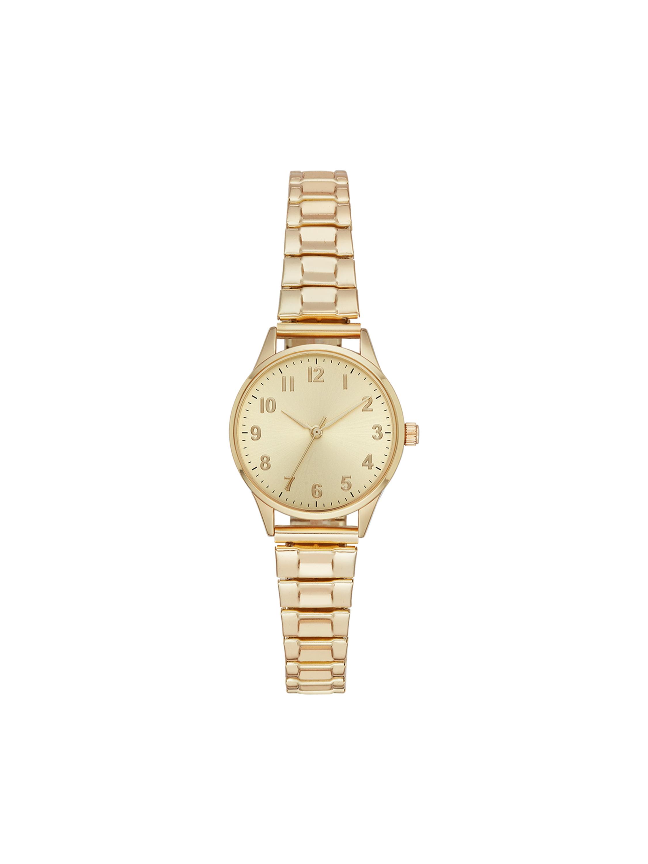 Time & Tru Ladies' Analog Expansion Band Watch