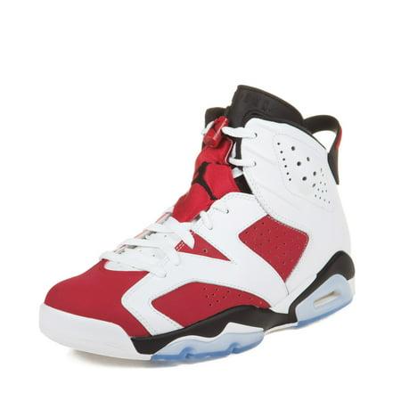 Air Jordan Retro  Mens Shoes White Carmine Black
