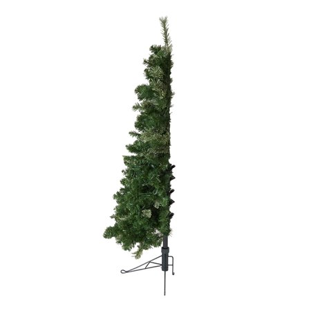 Home Heritage Cashmere 5 Foot Artificial Christmas Half Tree with LED Lights