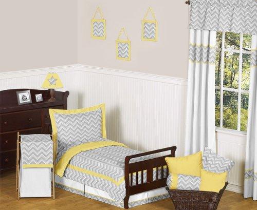 JoJo Designs Yellow and Gray Chevron Zig Zag Boy or Girl ...
