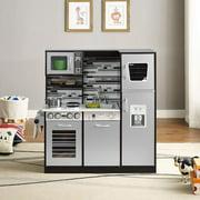 Play Kitchen Set, Realistic Pretend Play Kids Kitchen by Naomi Home, Espresso
