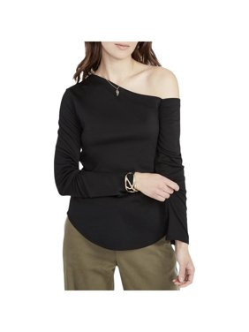 e0c38db68b22ba Product Image RACHEL ROY Womens Black Long Sleeve Asymetrical Neckline  Tunic Top Size: L