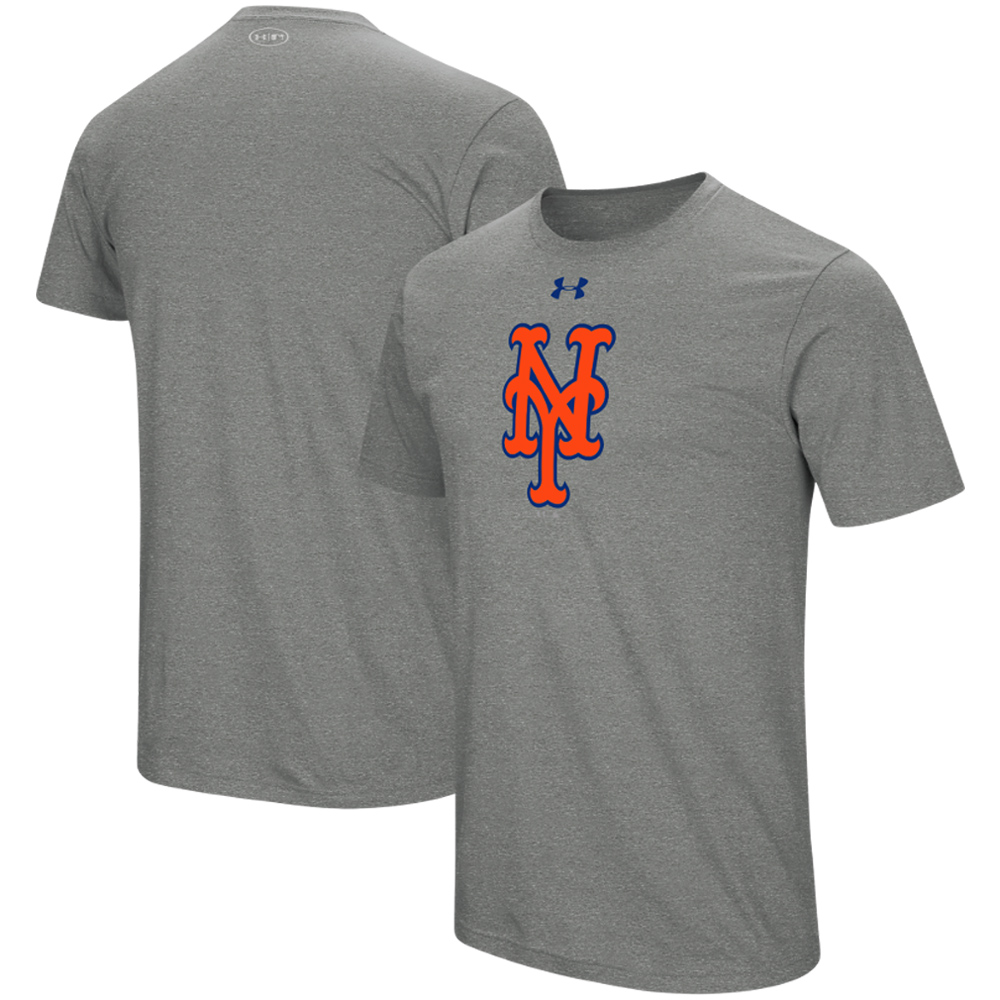 New York Mets Under Armour Team Core Performance T-Shirt - Gray