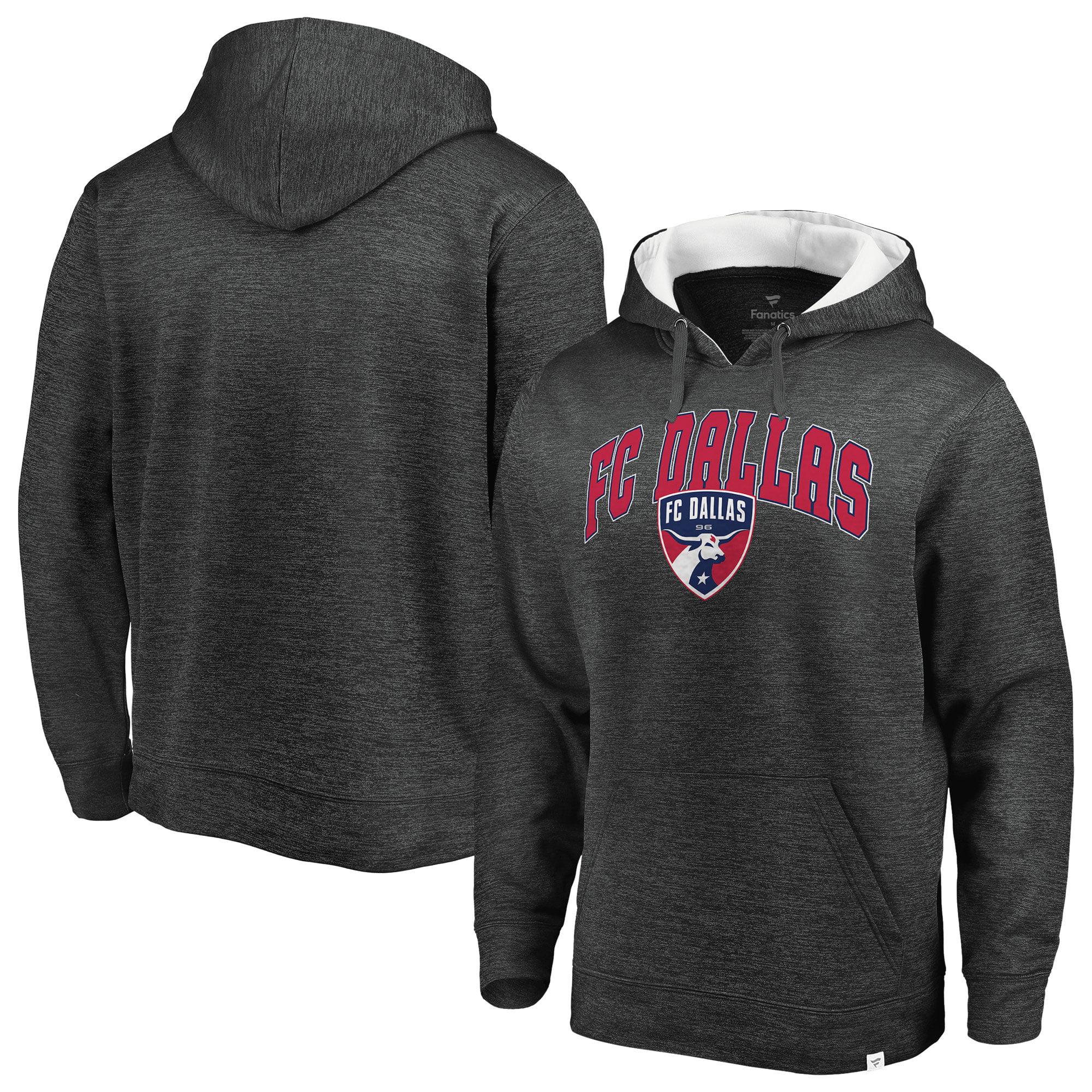 FC Dallas Fanatics Branded Pullover Hoodie - Heathered Gray