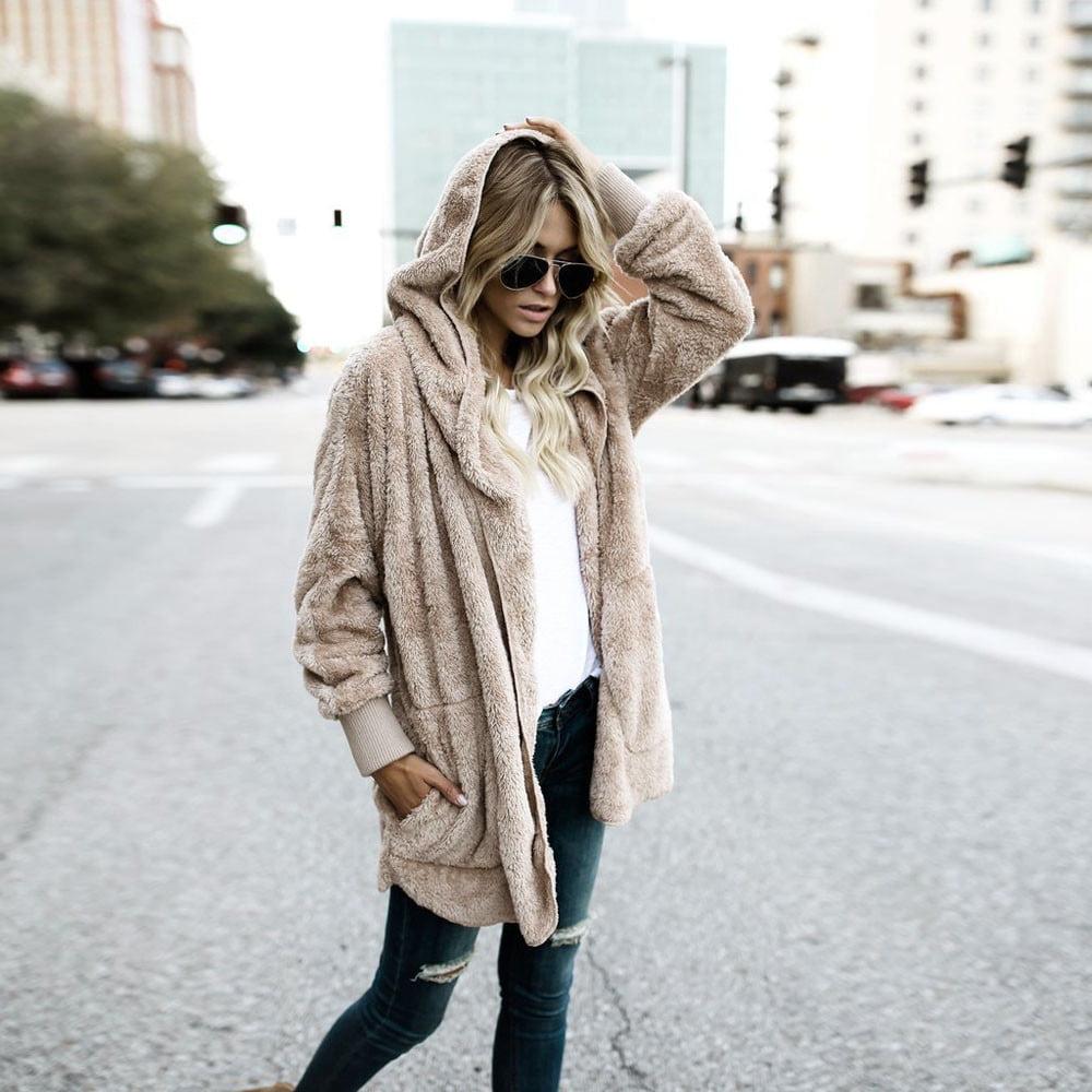 Women Girls Fashion Hooded Long Jacket Hoodies Parka Outwear Cardigan Coat Jacket by