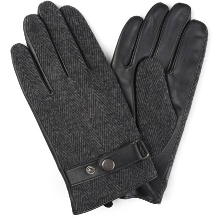 Mens Lined Fashion Leather Sheepskin Driving Gloves