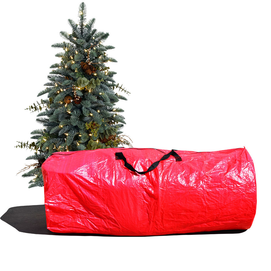 Supplier Generic Large Artificial Christmas Tree Carry Storage Bag Holiday Clean Up 9' Red