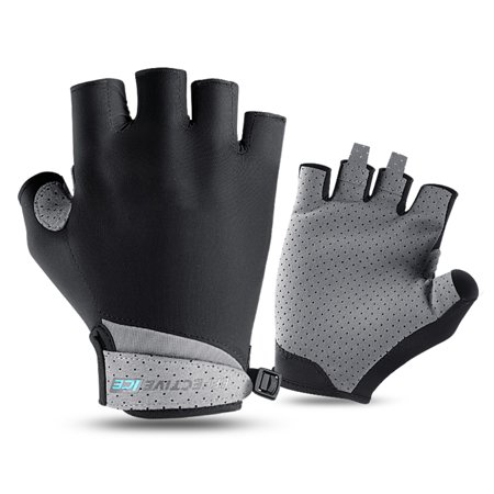 Men Women Half Finger Mesh Ice Silk Gloves Riding Golf Motorcycle Breathable Sunscreen Summer Gloves Summer Motorcycle Riding Gloves