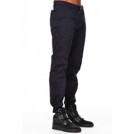 Mens Basic Skinny Slim Fit Urban Solid Heft Joggers Pants J01-28-Navy