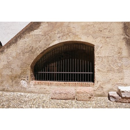 Laminated Poster Wall Old Window Window Grilles Castle Grid Poster Print 24 x 36
