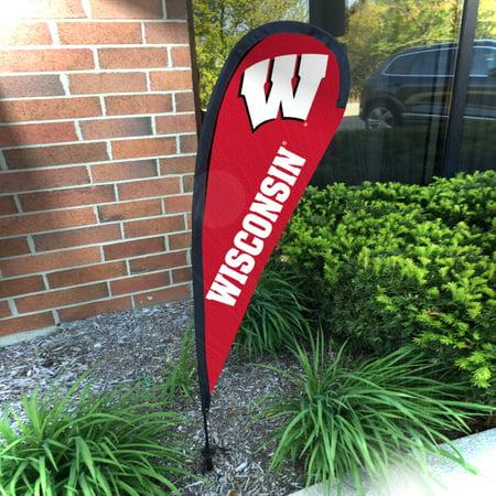 University of Wisconsin Badgers Teardrop Garden Banner - Wisconsin Badgers Garden