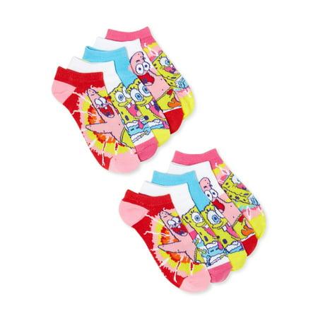 Spongebob Girls Socks, 10 Pack Socks Sizes 4/6 - 6/8