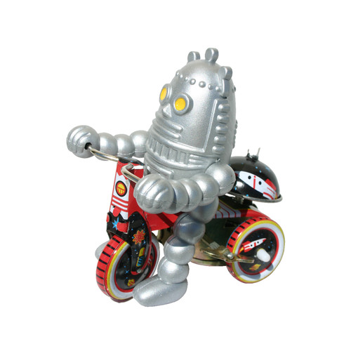 Alexander Taron Collectible Decorative Tin Toy Robot on Bike
