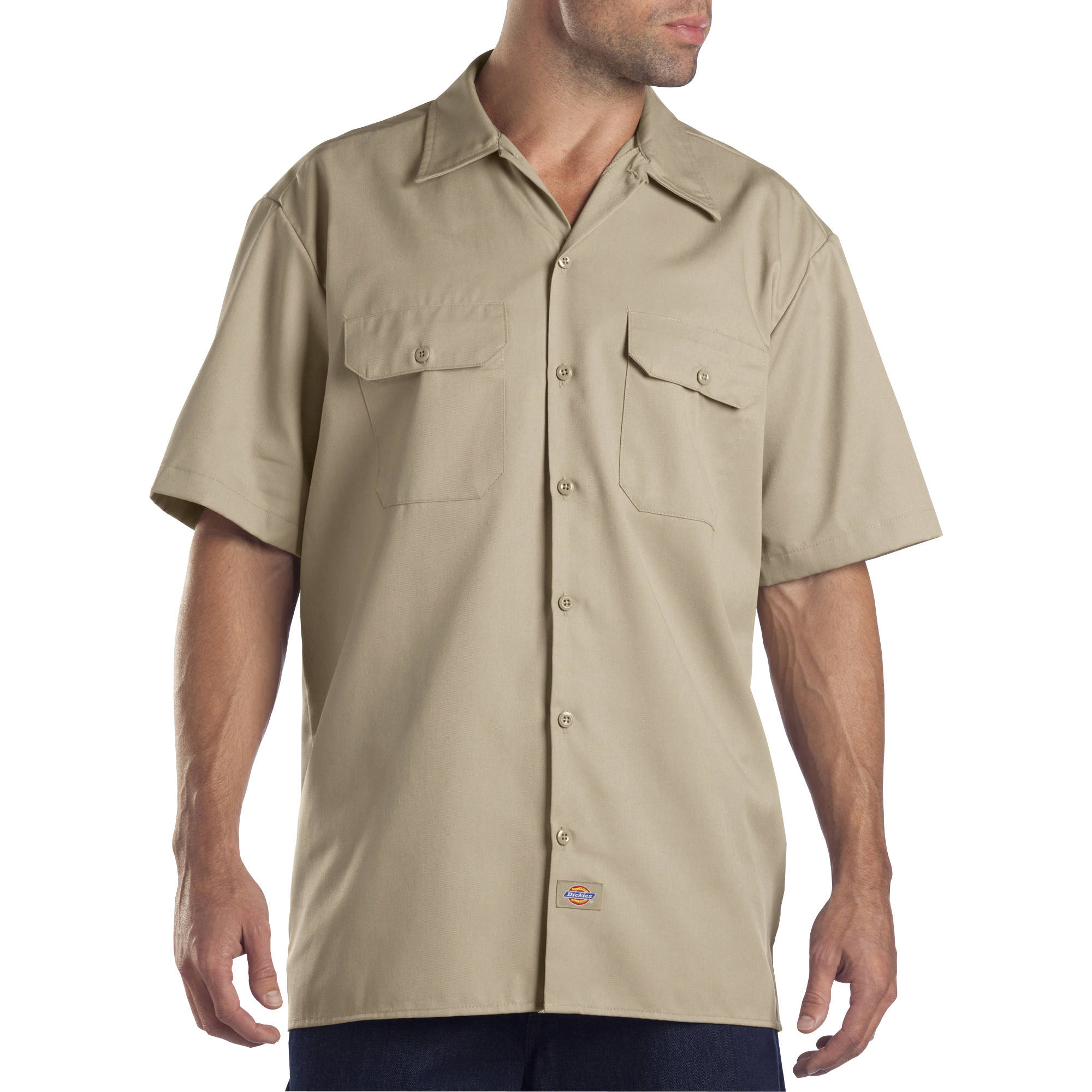 Dickies Big and Tall Men's Short Sleeve Twill Work Shirt - Walmart.com