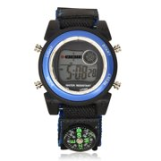 Wonder Nation Nylon Compass Velcro Digital Watch