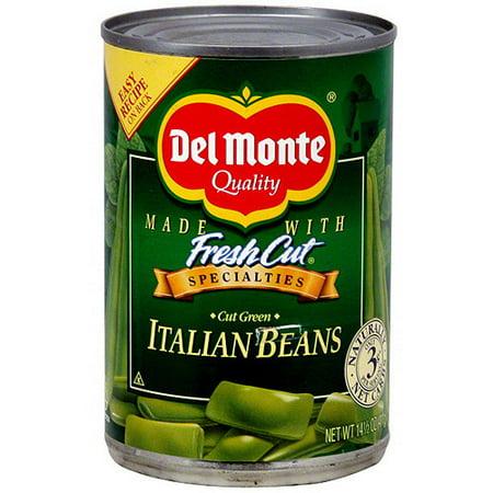 Del Monte Cut Green Italian Beans, 14.5 oz (Pack of