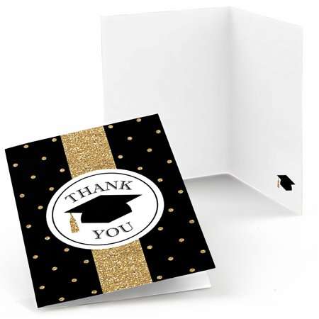 Gold Tassel Worth The Hassle - Graduation Party Thank You Cards (8 count)](Graduation Party Card Box)