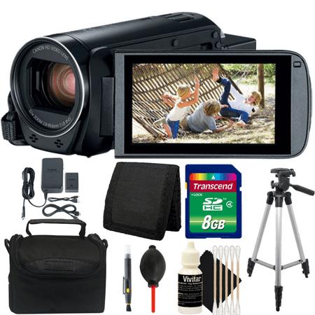 Canon VIXIA HF R800 HD Camcorder Black with 8GB Top Accessory Kit and Tripod