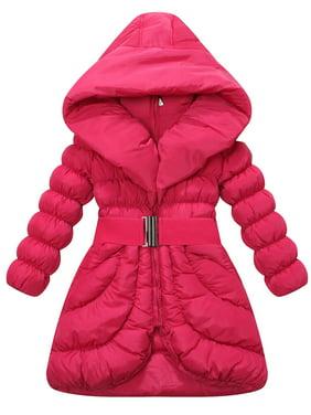 82c7bab1e790 Product Image Richie House Girls  Padding Jacket with Elastic Buckle Belt  RH1213
