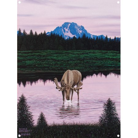 Mt Moose - Moose near Mt. Moran Metal Art Print by Mike Bennett (9