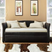 Dhp Halle Upholstered Daybed And Trundle Dark Brown