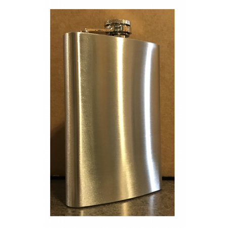 Rock Ridge Stainless Steel Flask with Bartending Guide (Choose Your Quantity and Size!) (1, 8 ounce) Baseball 6 Ounce Flask