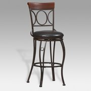 Linon Circles Back Bar Stool, 30 inch Seat Height