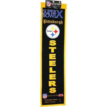 Super Bowl Dynasty Banner - Super Bowl X Pittsburgh Steelers Heritage Banner