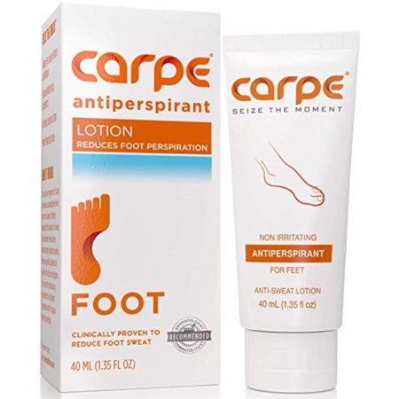 Carpe Antiperspirant Foot Lotion, A Dermatologist-Recommended Solution to Stop Sweaty, Smelly feet Great for