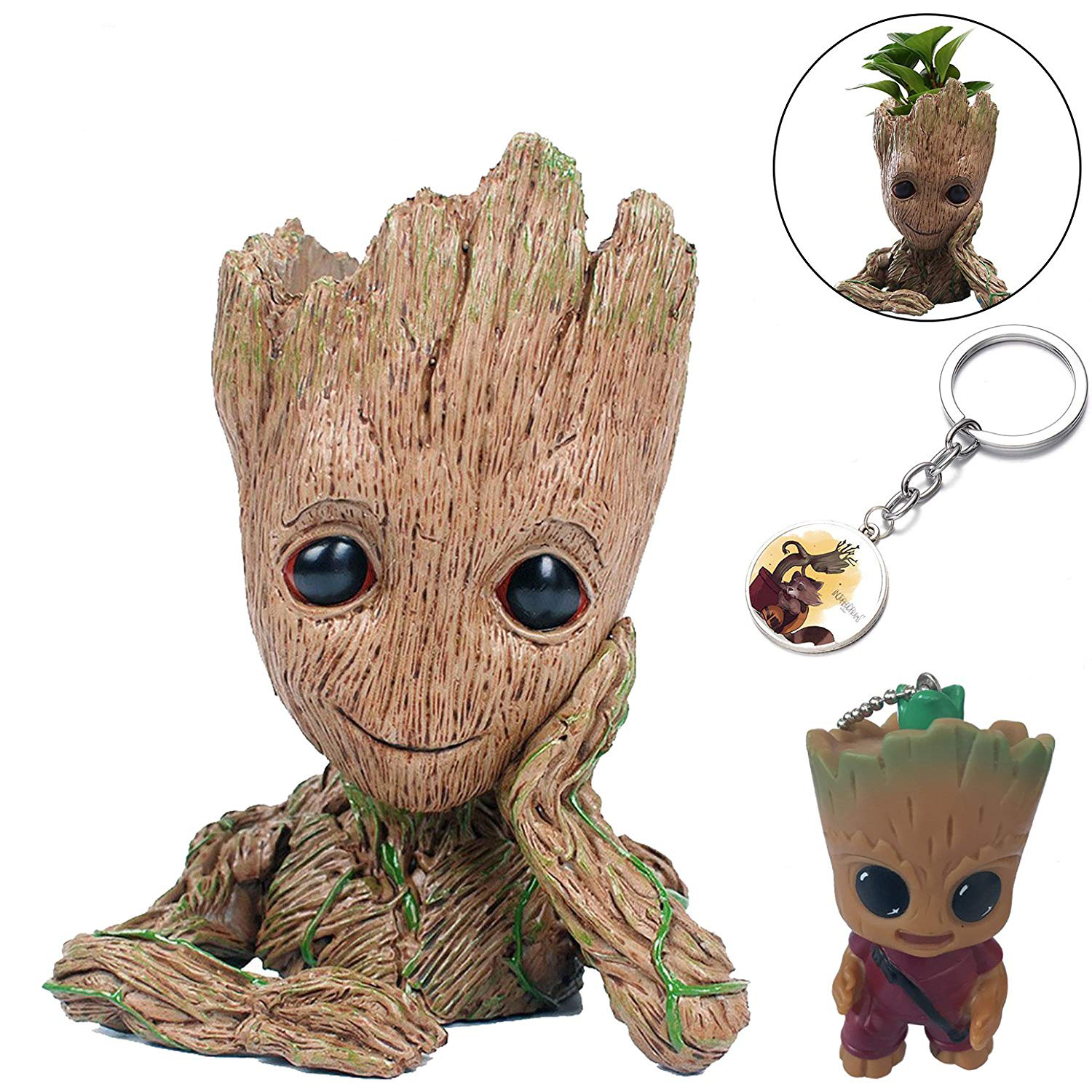 Baby Groot Action Figures Guardians of The Galaxy Flowerpot Baby Cute Model Toy